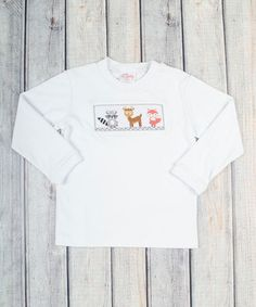 Sweet woodland creatures lend oodles of charm to this tee, while pure cotton keeps little darlings comfortable. Toddler Boys, Infant Toddler, Woodland Creatures, Baby Boy Fashion, Long Sleeve Shirts, Fall 2015, Tees, Mens Tops, Clothes