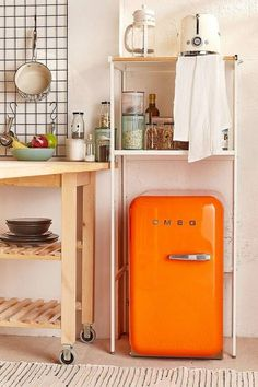 18 Small Apartment Furniture Ideas That'll Save Your Tiny Space - Urban Outfitters All-Purpose Kitchen Storage Tower - Small Apartment Furniture, Kitchen Furniture, Furniture Design, Furniture Ideas, Furniture Storage, Bedroom Storage, Tiny Furniture, Luxury Furniture, Furniture Shopping