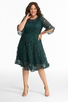 a2f5aee76b8 Don t fret over what to wear to that upcoming wedding. Our plus size Sofia  Sequin Lace Dress is a great dress for wedding guests. A pullover style  with ...