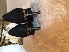 Tory Burch Platform  Heel Golden T Suede Shoes Size 11 #ToryBurch #PumpsClassics #Party