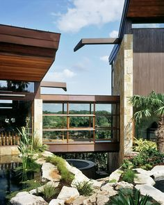 Residential pavilions surrounded by sweeping canyon designed by Miró Rivera Architects - Austin, TX