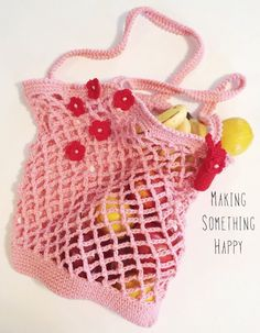Market Bag / Beach Bag with Lip Balm Holder / Tote Bag / Beach Tote / Pink Pool Bag / Crocheted Beach Tote / Beach Bag / Tote / Crochet by MakingSomethingHappy on Etsy Beach Tote Bags, Crochet Purses, Market Bag, Lip Balm, Purses And Bags, Crochet Top, Crochet Necklace, My Etsy Shop, Lips