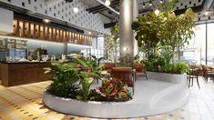 LOT creates tropical garden within Brooklyn coffee house Devoción