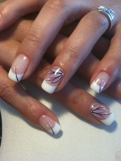 Jacqueline ongles gel french, french nail art, french tip nails, gel nail. Ongles Gel French, French Nail Art, French Nail Designs, French Tip Nails, Toe Nail Designs, Fancy Nails, Trendy Nails, Cute Nails, Nail Manicure