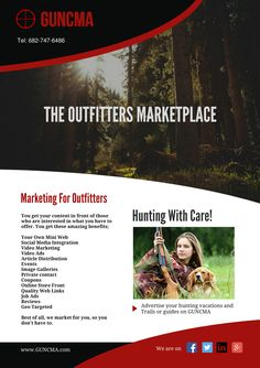 hunting outfitters If you are a hunting outfitter who would like to reach a world wide market, then come and talk to us about becoming a member. We support Hunting Outfitters, How To Become, How To Get, You Got This, Social Media, Ads, Marketing, Image, Its Ok