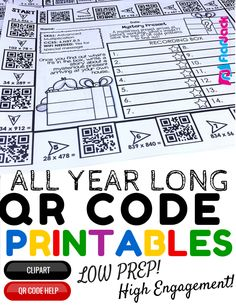 4th Grade All Year Long QR Code Printables - Low Prep! If your students love QR codes, check out this bundle of QR code printables for 4th grade math that will keep your students engaged and actively practicing skills all throughout the year. $