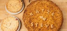 Personalized Wedding Pies from Grand Traverse Pie Company Wedding Pies, Pie Company, Apple Crumb, Pie Shop, Fruit Pie, Gluten Intolerance, Mini Pies, Chocolate Cream, Pecan