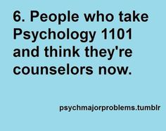 psych major problems