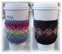 Cup sleeves!  good idea for green-living.  #DIY #Sleeves #Coffee