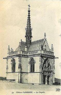 Amboise Indre et Loire France 1907 Chapel Chateau d'Amboise - Lack of projecting buttresses