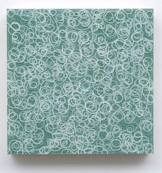 Totally inspired!   -lay rubber bands down on canvas, spray with paint, remove bands!