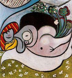 Picasso The Dreamer 1932 oil on canvas 101 x 93 cm Metropolitan Museum of Art, New York Pablo Picasso, Kunst Picasso, Art Picasso, Picasso Paintings, Art Sur Toile, Cubist Movement, Spanish Painters, Georges Braque, Oil Painters