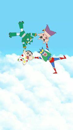 Shinchan and friends All Cartoon Characters, Sinchan Cartoon, Cartoon Quotes, Cartoon Shows, Father Cartoon, Cute Disney Wallpaper, Cute Anime Wallpaper, Cute Cartoon Wallpapers, Pretty Wallpapers