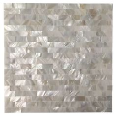 Online Shop 6 Shell Mosaic Tiles Peel and Stick Mother of Pearl Shell Tile for Kitchen Backsplashes, x White Brick Kitchen Backsplash Peel And Stick, Peel And Stick Tile, Stick On Tiles, Backsplash Tile, Kitchen Mosaic, Backsplash Ideas, Mother Of Pearl Backsplash, Door Coverings, Mosaic Wall Tiles