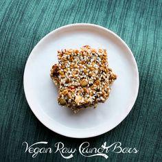 RAW VEGAN RECIPE: Vegan Raw Crunch Bars. Good. I was looking for a crunchy bar recipe.