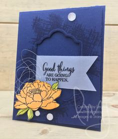 Good Things | Stampin\' Up! | You\'ve Got This #litearllymyjoy #watercoloring #flower #fauctedgems #peekaboopeach #20172018AnnualCatalog
