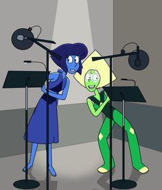 Jennifer Paz (Lazurite) and Shelby Rabara (Peridot) - picture