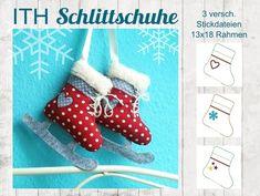 Stickmuster - ♥ ITH Stickdatei Schlittschuh 13x18 ♥  - ein Designerstück von StoffCut bei DaWanda