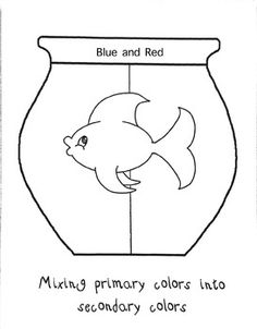 secondary colors fish bowls one fish two fishred fishsecondary colorprimary - One Fish Two Fish Red Fish Blue Fish Coloring Pages