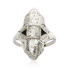 1935 diamond and onyx