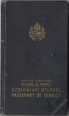 Magyar szolgálati útlevél 1943