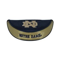 NCAA Notre Dame Fighting Irish Golf Mallet Putter Cover by Team Effort. $15.99. This mallet putter cover is constructed of durable 420D nylon in vibrant collegiate team colors with foam padding and fleece lining for club protection. It secures with a hook and loop closure. Fits right or left-handed, standard or center shaft mallet putter. It is embroidered with two collegiate trademarks and packaged in hangable clamshell.