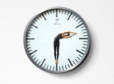 Y+ Yoga Center Advertisement      This clever wall clock was developed by Lem ad agency to promote Y+ Yoga Center in Shanghai, China.