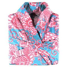 Check out this item at One Kings Lane! Spring Bloom Robe, Aqua