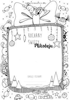 Trendy w kategorii edukacja w tym tygodniu - Poczta Christmas Crafts For Toddlers, Toddler Crafts, Christmas Time, Merry Christmas, Christmas Ideas, Polish Language, Christmas Printables, Dear Santa, Colouring Pages