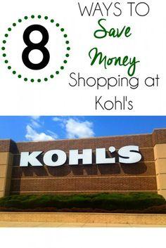 Ways to Save Money Shopping at Kohls
