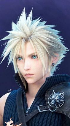 Final Fantasy Cloud, Final Fantasy Artwork, Final Fantasy Vii Remake, Cloud And Tifa, Cloud Strife, Kingdom Hearts Characters, Fantasy Setting, Princess Mononoke, Kawaii Anime Girl