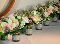 VINTAGE WEDDING TABLE FLOWERS - Google Search