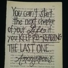 I love using book pages. And I adore this quote
