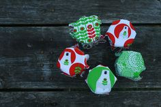 Totally adorable pickle jar covers made by Applecyder using my Brrr! fabric.