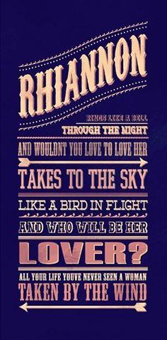 Rhiannon Fleetwood Mac 1975- was my solo dance song my senior year!