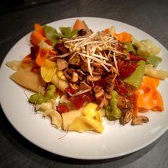 a na obiad... makaron z pieczarkami i suszonymi pomidorami - healthy plan by ann