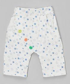 White & Blue Star Shorts - Infant, Toddler & Kids by Leighton Alexander #zulily #zulilyfinds