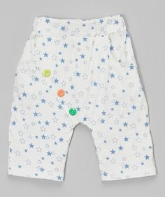 Look what I found on #zulily! White & Blue Star Shorts - Infant, Toddler & Kids by Leighton Alexander #zulilyfinds