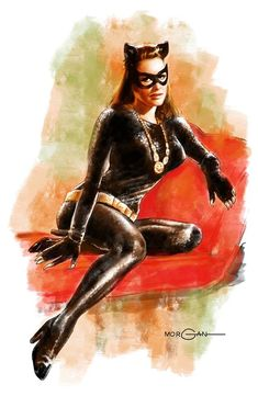 Catwoman by Tom Morgan Comic Book Artists, Comic Books Art, Comic Art, Batman Universe, Comics Universe, Tom Morgan, Crime, Catwoman Selina Kyle, Julie Newmar