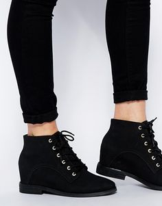 Browse online for the newest ASOS RIDDLE Wedge Ankle Boots styles. Shop easier with ASOS' multiple payments and return options (Ts&Cs apply). Women's Shoes, Shoe Boots, Wedge Ankle Boots, Timberland Boots, Asos, Wedges, Sandals, Fashion, Ankle Booties