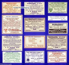 14 Laudanum & Opium Drug Store Pharmacy Apothecary Antique Medicine Bottle Label Other photo