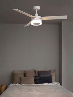 Ventilador de techo blanco ICE LED - La Casa de la Lámpara