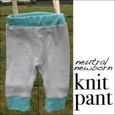 DIY Clothes Refashion: DIY Neutral Newborn Knit Pants DIY Clothes DIY Refashion DIY Sew