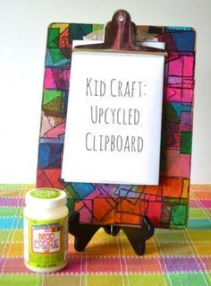 Kid crafted clipboard. - Mod Podge Rocks