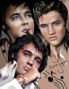 Beautiful Elvis Collage by Sara Lynn. Thank you, Sara!