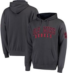 Ole Miss Rebels Colosseum Double Arch Pullover Hoodie - Charcoal