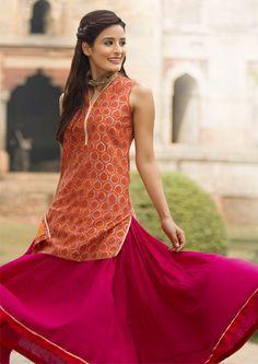 #twirl #long #skirt #ghera #flare #fuchsia #Fabindia