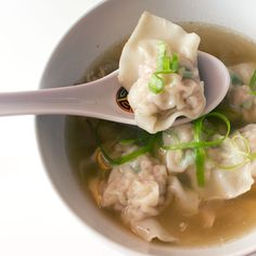 """Pancit Molo is also referred to as """"dumpling soup"""". Like all soups, the main foundation of this Pancit Molo recipe soup is a good stock. Try our Pancit Molo Pork Recipes, Cooking Recipes, Healthy Recipes, Healthy Soups, Bariatric Recipes, Filipino Recipes, Asian Recipes, Pinoy Food Filipino Dishes, Molo Recipe"""