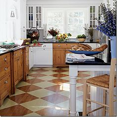 Do we do this to the kitchen hardwood floors to mix it up a bit?