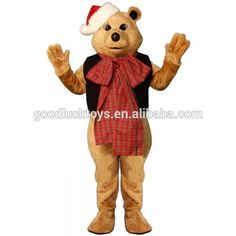 Fancy Bear w-VestBow & Hat Lightweight Mascot Costume Holiday Costumes, Adult Costumes, Cartoon Mascot Costumes, Eagle Mascot, An Elf, Paw Patrol, Christmas Themes, Cartoon Characters, Tigger
